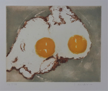 Friedel Anderson,Sunny Side up, Radierung