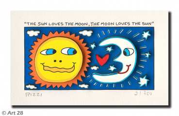 James Rizzi, The Sun loves the Moon, the Moon loves the Sun, Collage